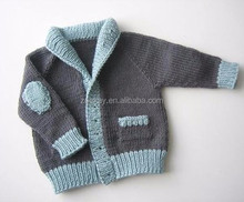 Children Sweater Boys Cardigan Sweater Children Knitted Cardigan Elbow Patch for Sweater