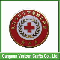 Cheap wholesale custom badge making machine with imitation hard enamel badge /lapel pin/pin badge