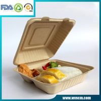 Plant fiber biodegradable food container