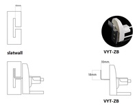50pcs/lot безопасности дисплей slatwall крючки, присоски, магниты крючки 50шт с dhl