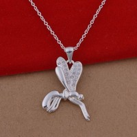 Factory 925 Sterling Silver Jewelry Vintage Products Animal Dragonfly Decorations for Weddings, Dragonfly Pendant Necklace