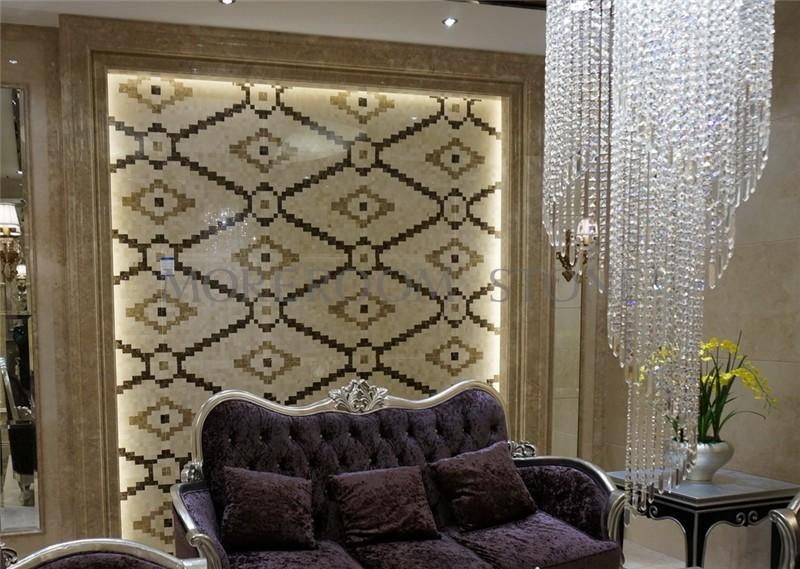 MPC0001-G02 Moreroom Stone Spanish Beige Marble Crema Marfil Black Stone Nero Marble Light Emperador Marble Mosaic Tiles Home Marble Flooring Mosaic Bathroom Design Mosaic Medallion Inlay Marble Tiles-1.JPG