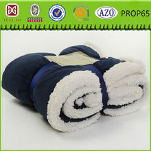 Super soft white lamb wool micro sherpa blanket