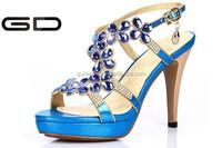 2015 sexy black transparent summer sandals women dress shoes high heels sandal ladies top quality