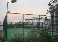 5mm diameter diamond shape chain link fence dark green RAL6005 PVC coated playground boundary fence