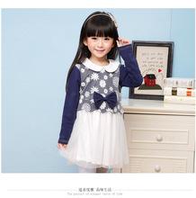 los niños little pony moderno vestido de los niños niñas ropa puffy vestido de los niños con el patrón de ropa al por mayor