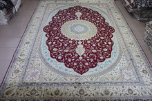 10*14 FT high quality Handmade pure silk carpet/rugs for hotel lobby