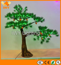 2015 Hot Selling LED Lighted Bonsai Pine Tree With CE ROHS SAA