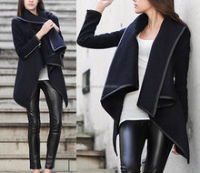 latest design coat 2015 Womens slim wool warm coat front short and long back coat for women trench windbreaker parka outwear