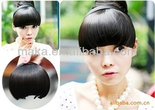 3 color women and girls short straiht wig sexy Qi Liu high BOBO Head Inclined Bang temperature Wig