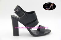 High heeled sandals peep toe shoes