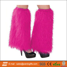 Party Costume Pink Furry Leg Warmers Whole