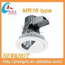 Popular diecasting Aluminum MR16 halogen recessed light fixtures with good quality best price
