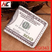 Latest promotion gift 100 dollar bill wallet pound wallet thin men's trifold purse direct sale