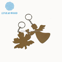 Wooden Custom Key Chains factory supply