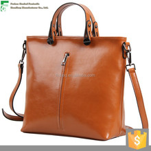 Fashion designer leather women leather vintage messenger tote bag
