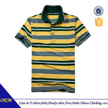 Wholesale short sleeve 100% cotton mens polo shirts with stripe