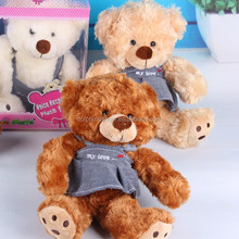 2016 wholsesale sfot plush recordable plush toy teddy bear custom cheap fromational gift stuffed recording animal toy