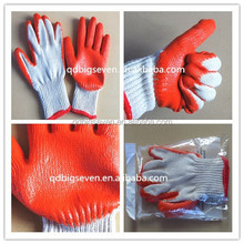 BSSAFETY 7 guage , latex rubber palm coated safety work glove, garden glove