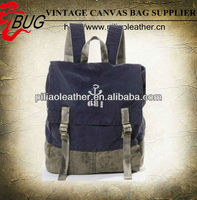 Fancy - Distressed canvas travel rucksack hiking pack