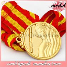 Top quality custom marathon sport medal/,antique/gold/ silver/ bronze metal medal