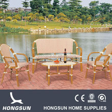 Excellent quality rattan dining table and chair