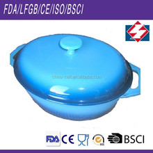 Good look oval cast iron cookware in use