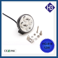 Round 3.3Inch 12W high power led 12v car spotlights IP68 truck led lights