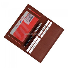 Hot selling leather cheque book cover