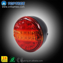 Toptree E-MARK 4 inch round Caravan/Trailer LED Rear Round Hamburger truck Tail Light