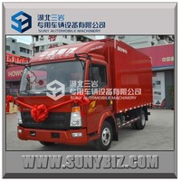 High quality 2015 HOWO 130HP Cargo truck 4*2 light truck/china light trucks/Van truck for sale