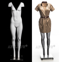 new style V neck-cut display invisible female Ghost mannequin