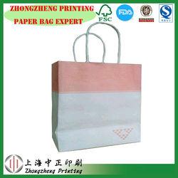 KRAFT paper handles bag for food, food carrier paper bag, advertising paper bag