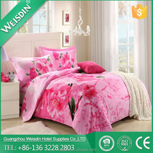 plain dyed made in China 100% cotton bedding set closeout