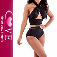 newest design high grade swimwear black slimming most seductive sexy swimsuit
