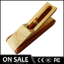 2014 Hot selling---Luxury Gift pen with wooden pen box natural color