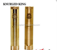 2014 New E-cigarettes Brass King Mod/Surefire Dusted Brass Knurled King Mod II king V2 Mod Clone from kingberry