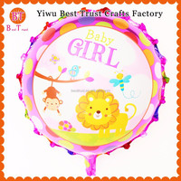 Wholesale Cheap Price 18inch Round Inflatable Helium Aluminium Foil Balloon For Baby Shower Types Of Party Decorations