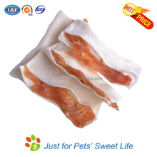 Wholasale Bulk Low MOQ Dental Cleaning Rawhide Chicken Dog Snack