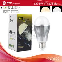 Mi Light Wifi led bulb 9w CCT iOS/Android Remote Control E27 led Bulb