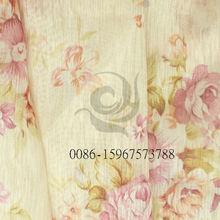 Impreso de poliéster y algodón readymade rústico barato telas de las cortinas visillo los fabricantes que venden.
