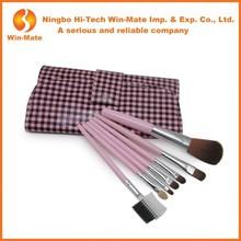 Hot pink 7 Pcs Make Up Tools for Travel Makeup Brushes