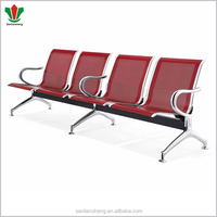 Airport stainless steel seating bench