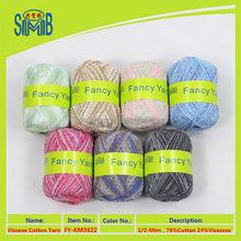 yarn factory wholesale viskose/cotton yarn for hand knitting