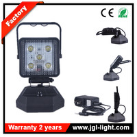 Super bright 15w battery operated portable led work light magnetic rechargeable JG-W051