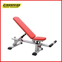 Adjustable bench gym equipment body building