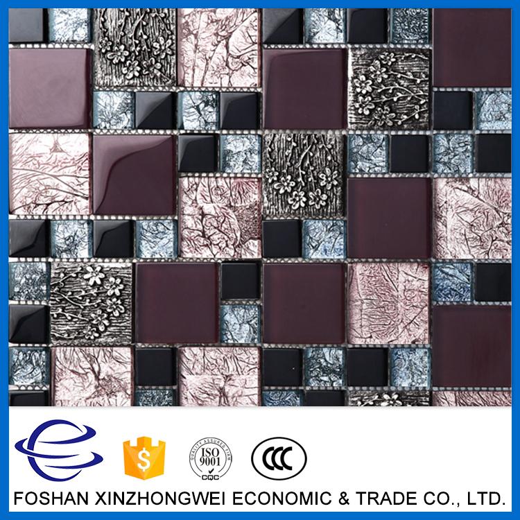 Nuevo diseño de mosaico de oro del azulejo del mosaico backsplash ...