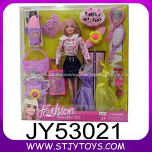 La moda de maquillaje muñeca hermosa niña de vinilo sólido muñeca con accesorios