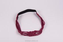 wine red hairheadband for women weave fabric sport yoga ladies soft hair headband new arrival 4895