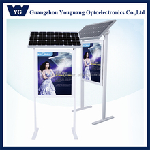 Double-Sided Solar Power LED Advertising display with lamp pole, Solar led light box